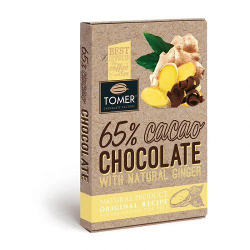 Шоколад горький 65% с имберем
