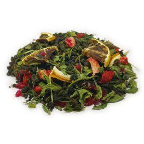 """Ароматизированный зеленый чай """"Клубничный мохито"""""""