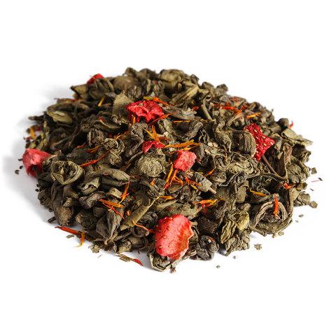Зеленый чай - Клубника со сливками Люкс